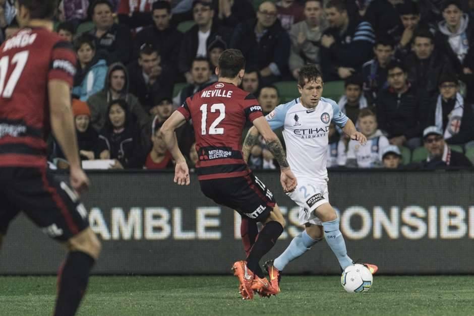 Fernando Brandán. Juega en Melbourne City FC, de Australia.